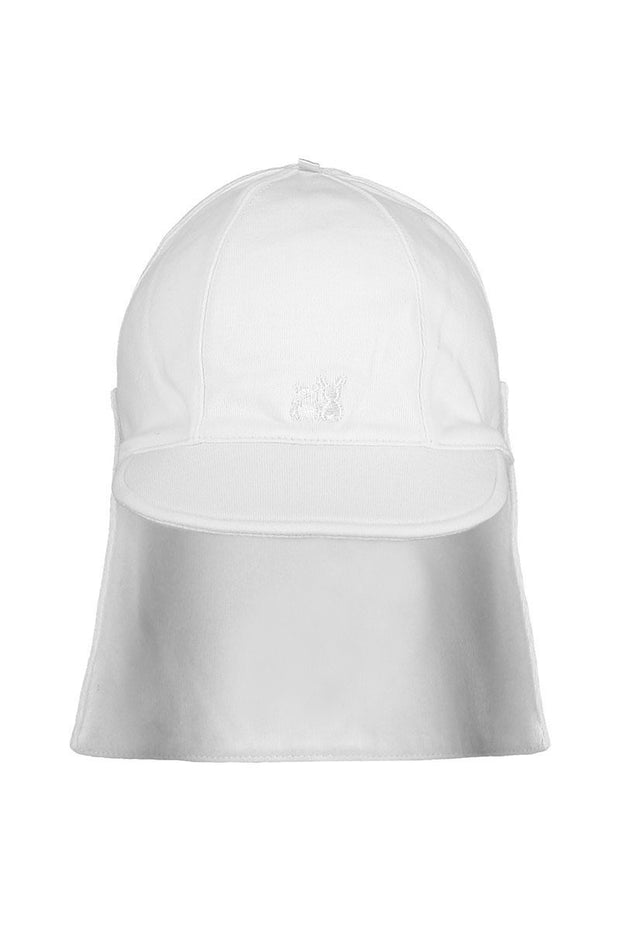 White Detachable Sunhat - Jacob Matthews