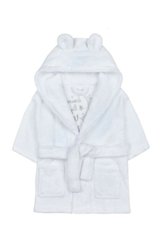 White 'Dream Big Little One' Dressing Gown - Jacob Matthews