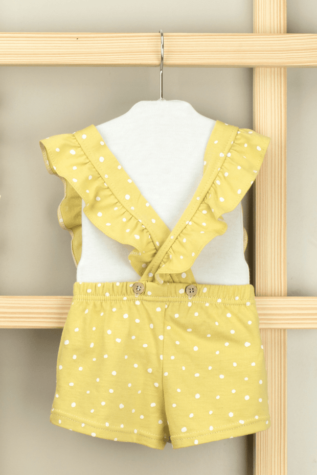 Yellow Dot Frill Romper - Jacob Matthews