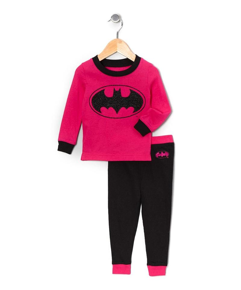 Batgirl Girls Hot Pink Long Sleeve Infant Pajama Set