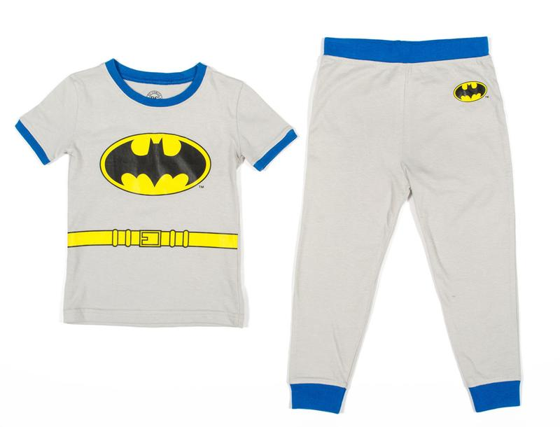 Batman Boys Costume Grey Pajama Set