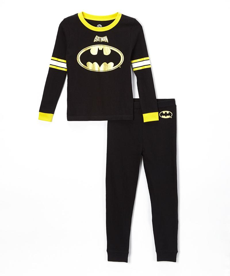 Batman Football Long Sleeve Cotton Pajama Set