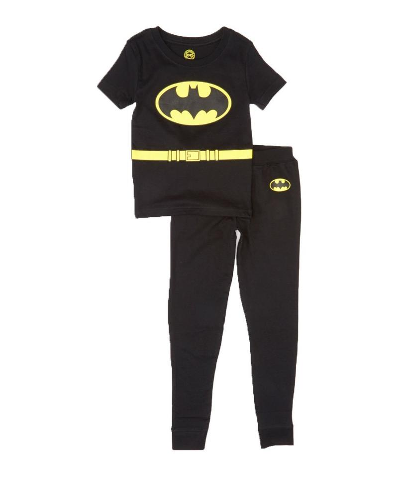 DC Comics 'Justice League Batman' Infant Black Short Sleeve Pajama Set