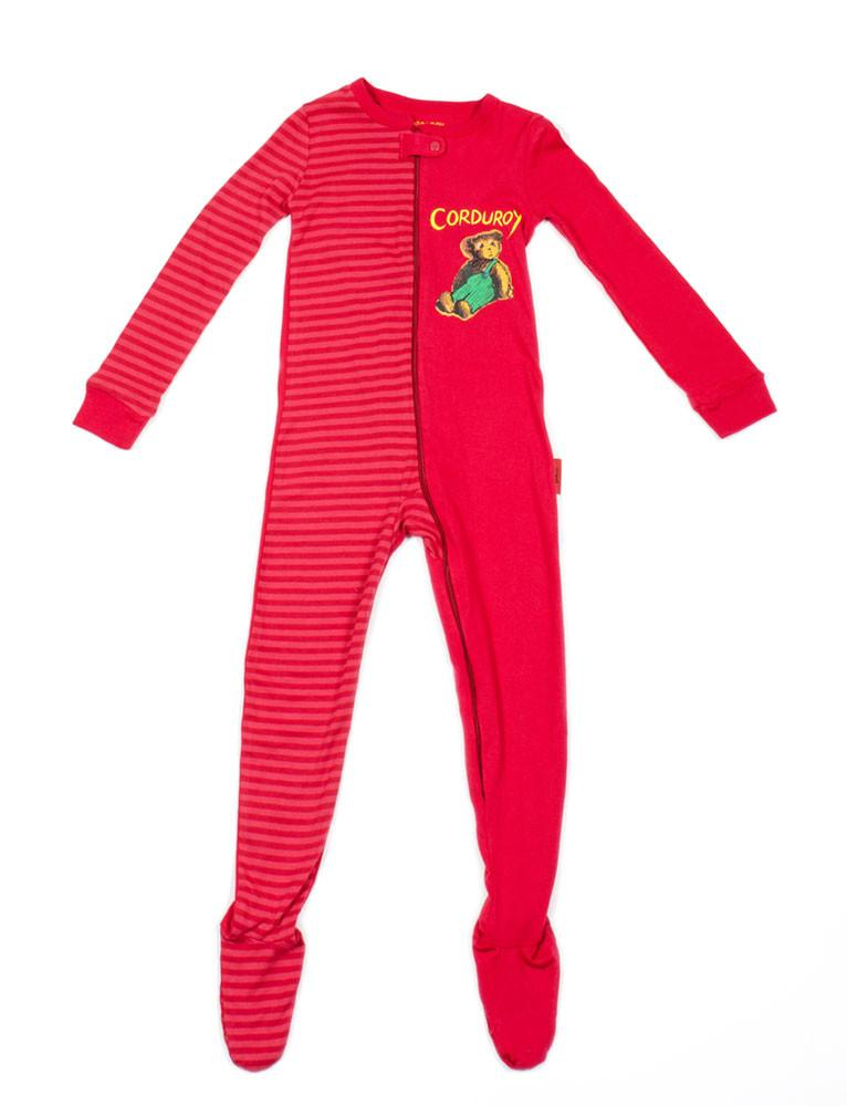 Corduroy Cotton Footie Toddler Pajama