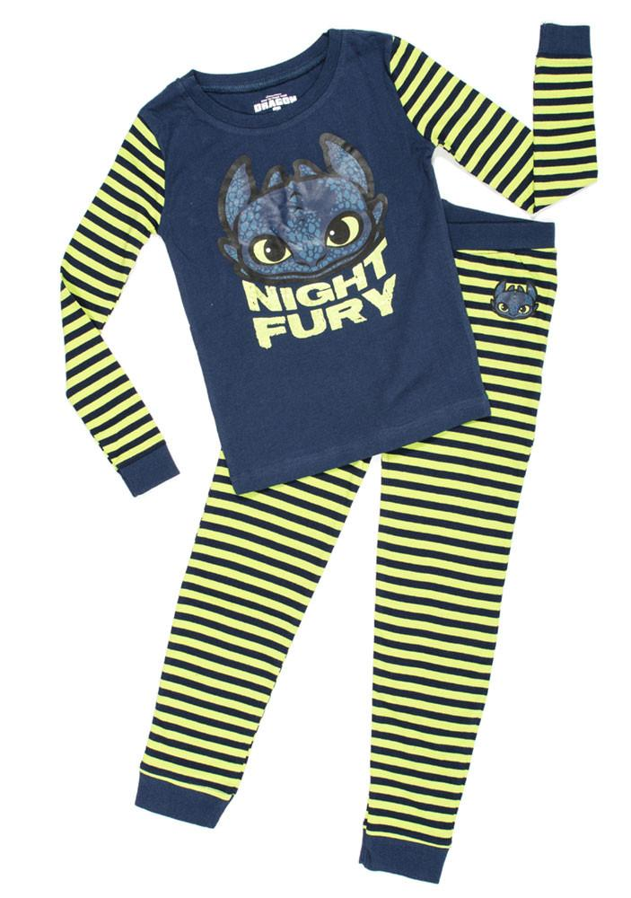 Dreamworks How to Train Your Dragon Night Fury Pajama Set