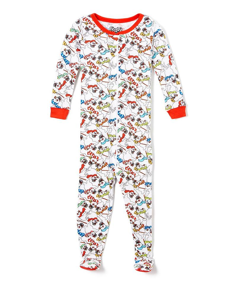 Frosty the Snowman 'Jolly Holiday' Footie Infant Cotton Pajama