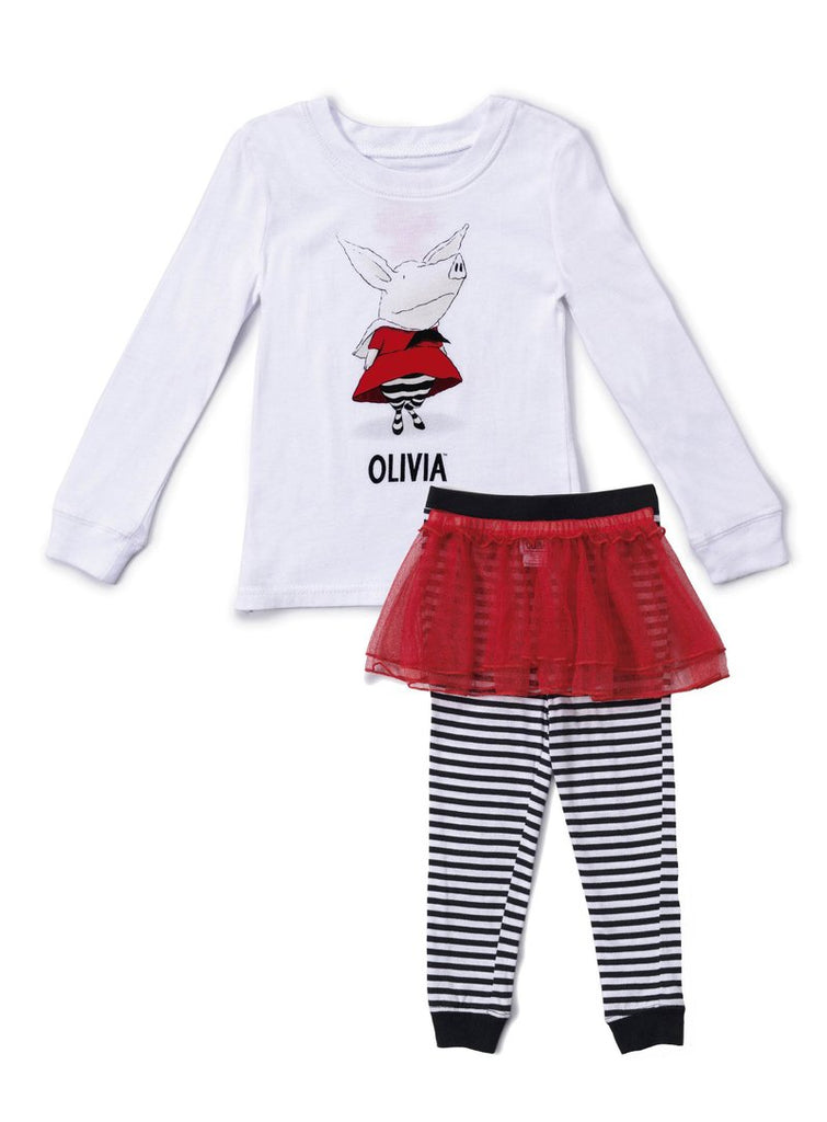 Olivia the Pig Cotton 3 Piece Tutu Toddler Pajama Set