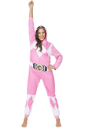 Power Ranger 'Mighty Morphin Pink Ranger' Ladies One Piece Pajama