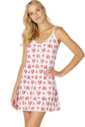 INTIMO Women's Heart Print Sleep Cami