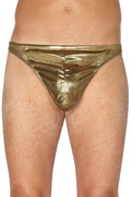 INTIMO Mens Gold Lame Thong