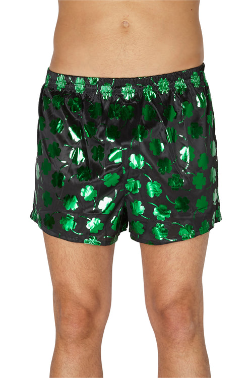 INTIMO Mens St. Patrick's Day Shamrock Boxers