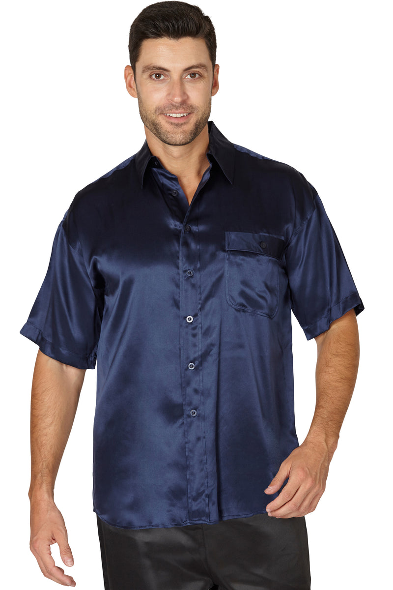 INTIMO Men's Short Sleeve Camp Shirt