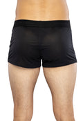 Intimo Mens Boxer Brief Black Shorts Underwear