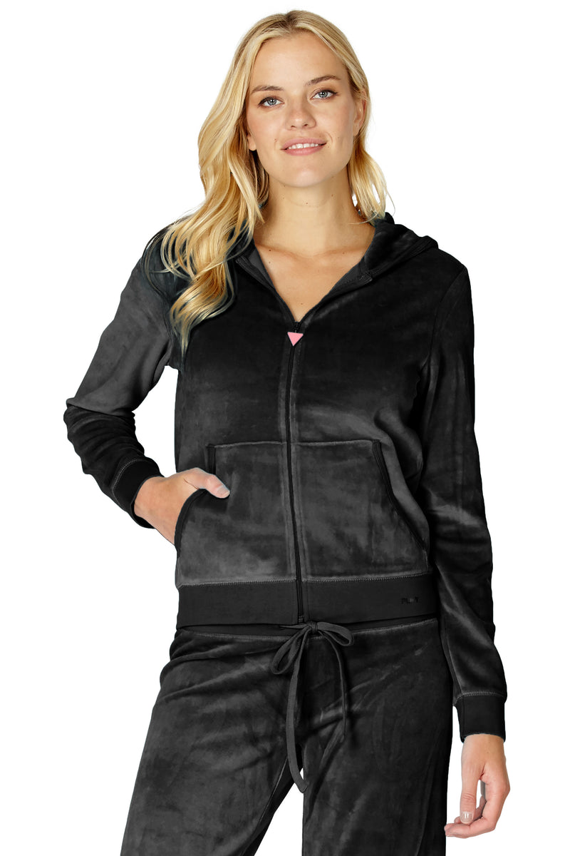 Women's Hooded Velour Sleep Top