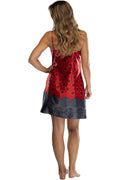 Intimo Womens Chemise Nightgown Red