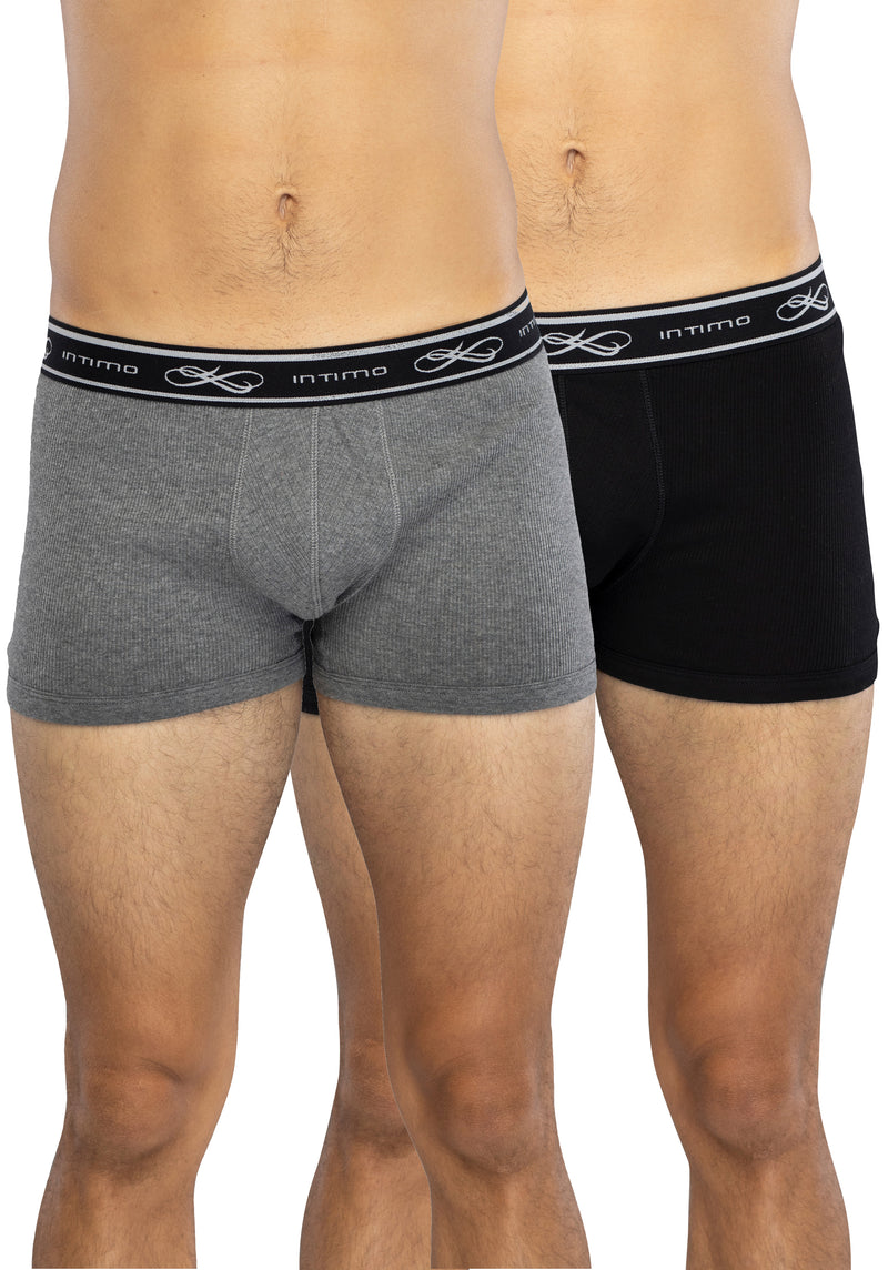 INTIMO Men's Adult 2 Pairs Quality Boxer Brief Underwear