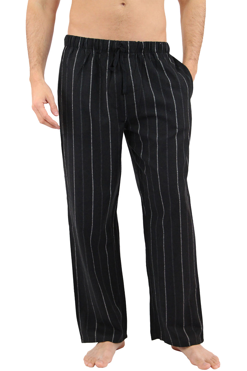 INTIMO Soft Bamboo Flannel Pajama Sleep Pants Black