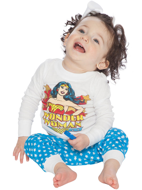 DC Comics 'Wonder Woman Vintage' Cotton Infant Costume Pajama Set