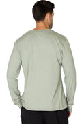 Men's Super Soft Rayon Cotton Blend Crew Neck Pajama Sleep Top