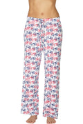 Intimo Womens Multi Dot Pajama Pants