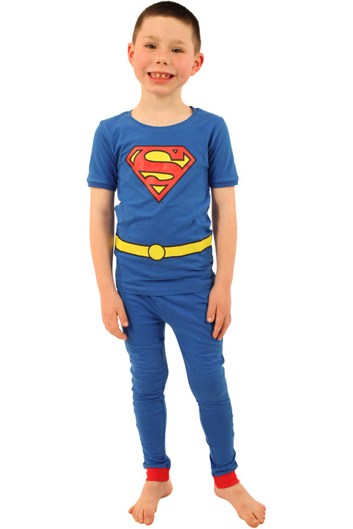 DC Comics Baby Boys Short Sleeve Superhero 2 Piece Cotton Pajamas