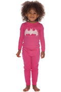 DC Comics 'Batgirl Glitter Logo' Girls Long Sleeve Pajama Set