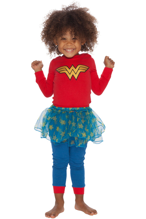 DC Comics 'Wonder Woman Logo Tutu' Infant and Toddler Pajama Set
