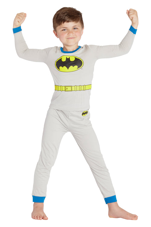 DC Comics Boys Batman Gray Costume Pajama Set