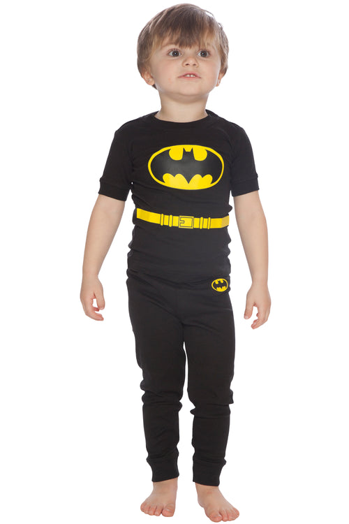 DC Comics Toddler Boys' Batman Superhero 2-Piece Pajama Set