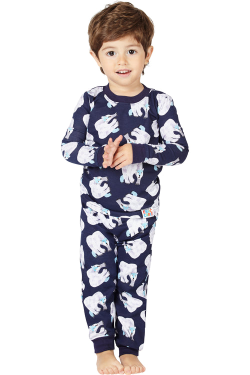 Eric Carle Boys Toddler Kids Polar Bear Pajama Set