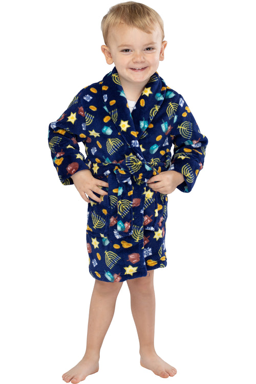 Toddlers' Hanukkah All Over Print Bathrobe