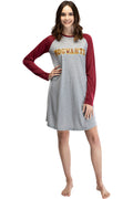 Harry Potter Long Sleeve Hogwarts Raglan Night Gown