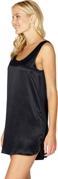 INTIMO Womens Silk Tank Chemise Sleep Lounge Top