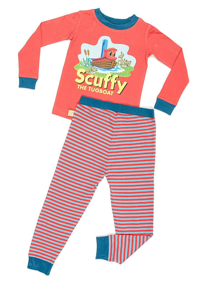 Scuffy The Tugboat Toddler Book Character Snug-Fit Cotton Pajama Set