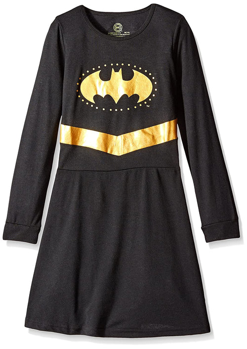 INTIMO Girls Big Batgirl Long Sleeve Pajama Nightown