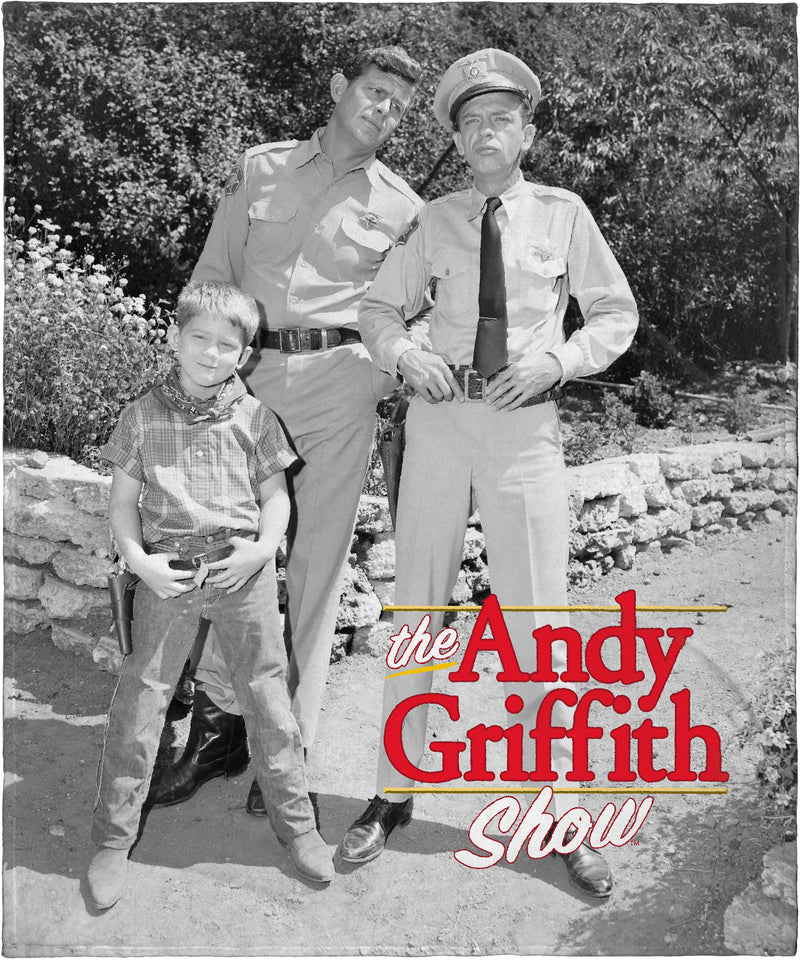 "The Andy Griffith Show Andy Opie And Barney Fife Super Soft Plush Fleece Throw Blanket 50"" x 60"" (127cm x152cm)"