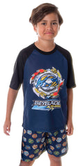 Beyblade Burst Boys' Spinner Tops 2 Piece Shorts And T-Shirt Sleepwear Kids Pajama Set