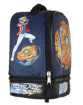 Beyblade Burst Fafnir Spinner Top Fumiya Kindo Dual Compartment Insulated Lunch Box Bag Tote