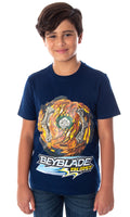 Beyblade Burst Boys' Wizard Fafnir Spinner Top Kids Short Sleeve T-Shirt Tee