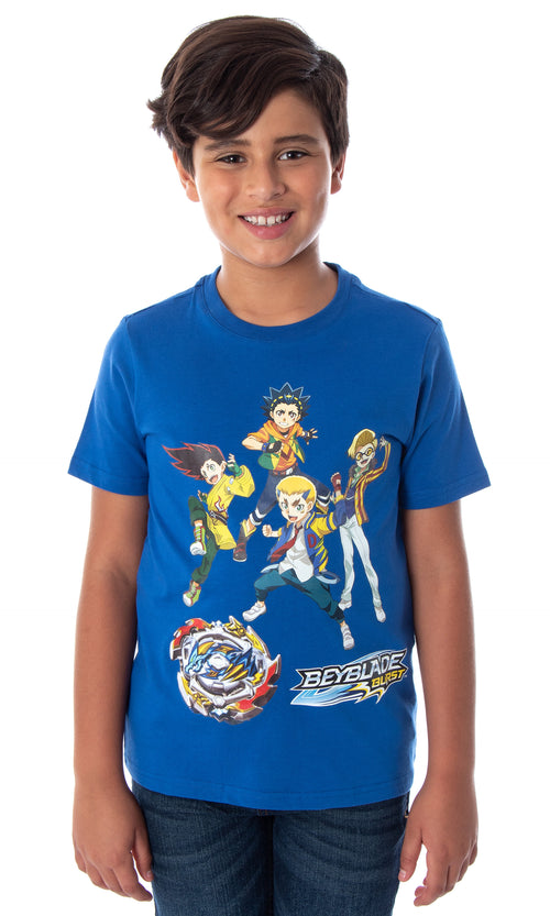 Beyblade Burst Boys' Valt Aoi Dante Koryu Arman Kusaba Fumiya Kindo And Ace Dragon T-Shirt Tee