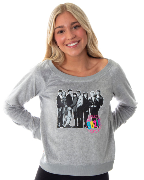 Beverly Hills 90210 Retro 90's TV Womens Juniors' Comfy Pajama Lounge Top Shirt