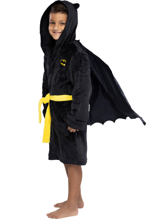 DC Comics Kids Superhero Plush Fleece Hooded Costume Robe