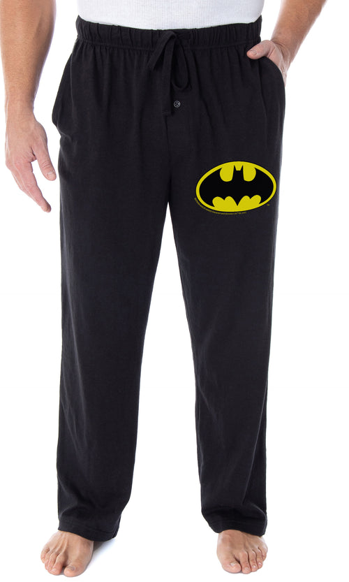 DC Comics Men's Batman Pajama Pants Bat Symbol Loungewear Sleep Pants