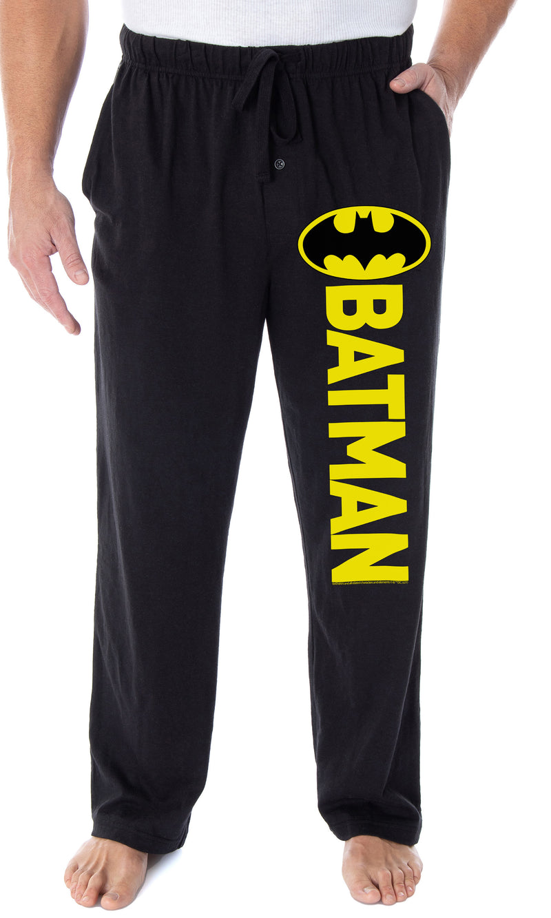 DC Comics Men's Batman Pajama Pants Classic Bat Logo Loungewear Sleep Pants