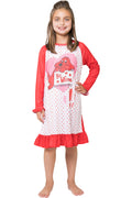 Clifford Girls' Toddler Mine' Valentines Day Pajama Nightgown