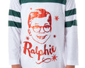 A Christmas Story Girl's Ralphie Raglan Striped Sleeve Nightgown Pajama Sleep Shirt