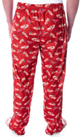 Disney Men's Cars Lightning McQueen AllOver Character Adult Loungewear Sleep Pajama Pants