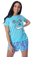 Disney Women's Monsters Inc. Sulley Shirt Top and Sleep Shorts Loungewear 2 Piece Pajama Set