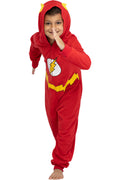 DC Comics Big Boys' Superhero Character Hooded Union Suit Footless Pajamas Costume