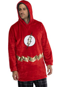 DC Comics Justice League Mens Oversized Sherpa Sweatshirt Lounge Hoodie